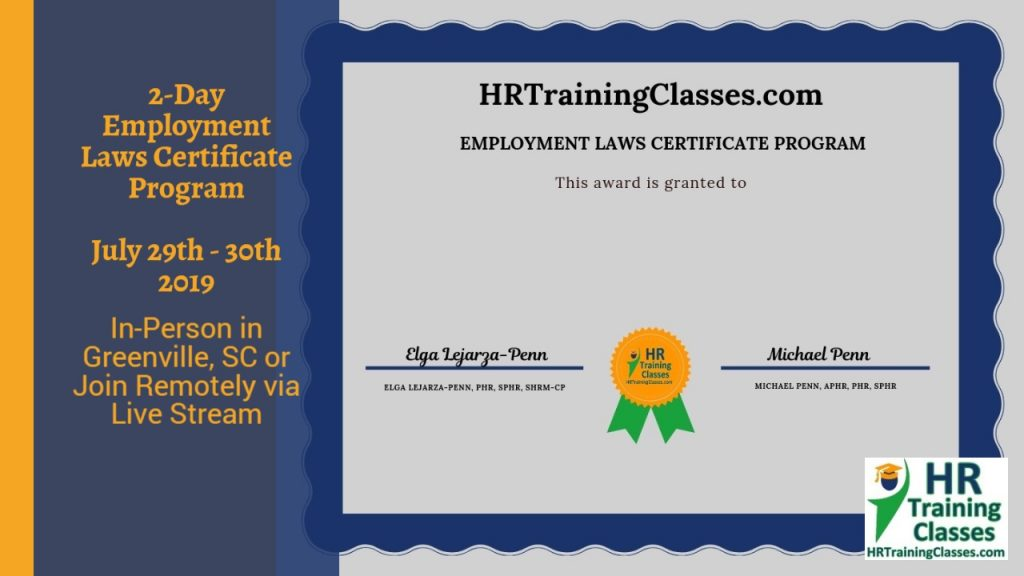 2-Day Employment Laws Certificate Program