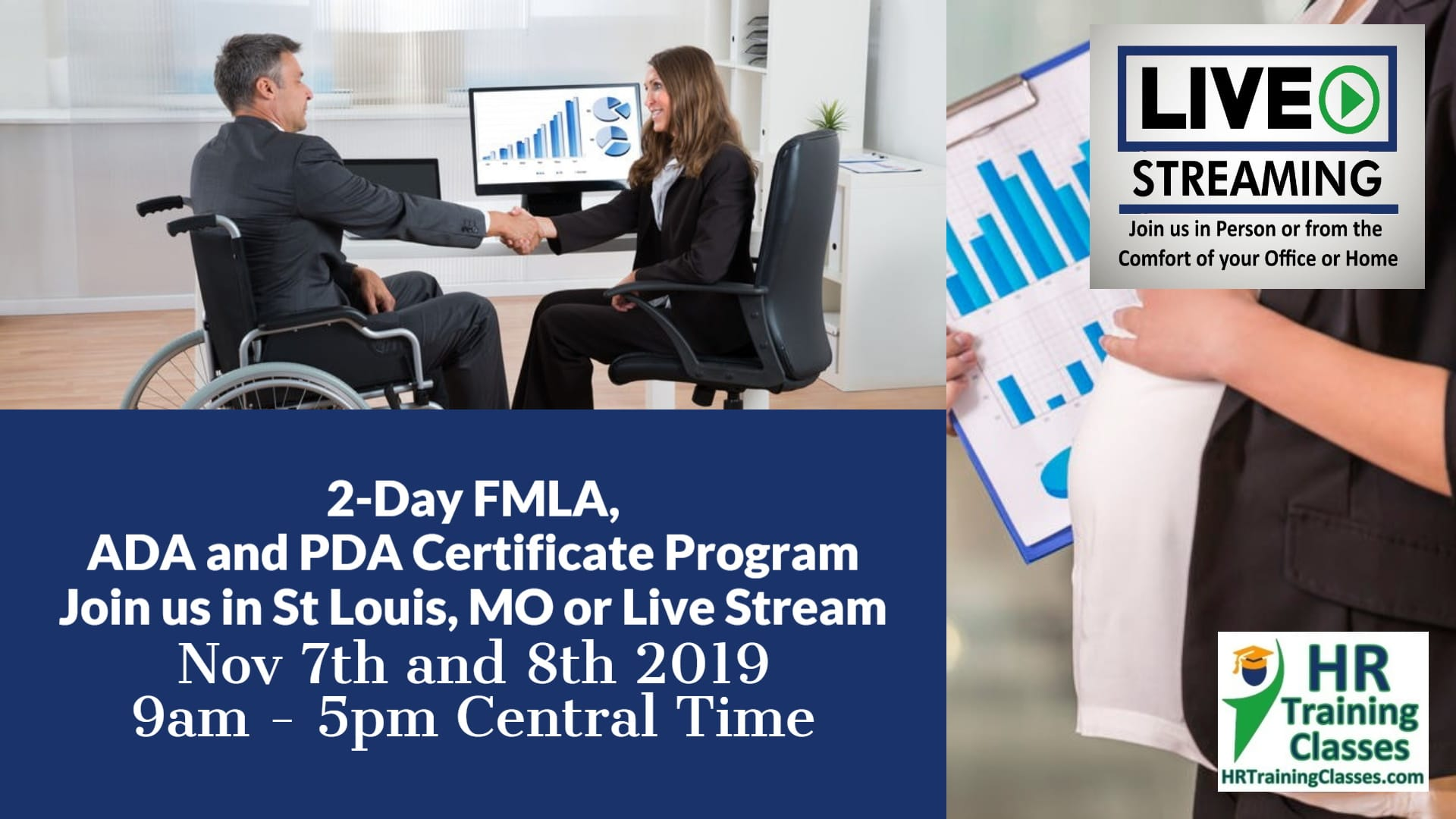 2-Day FMLA, ADA and PDA Certificate Program (Starts 11-7-2019)