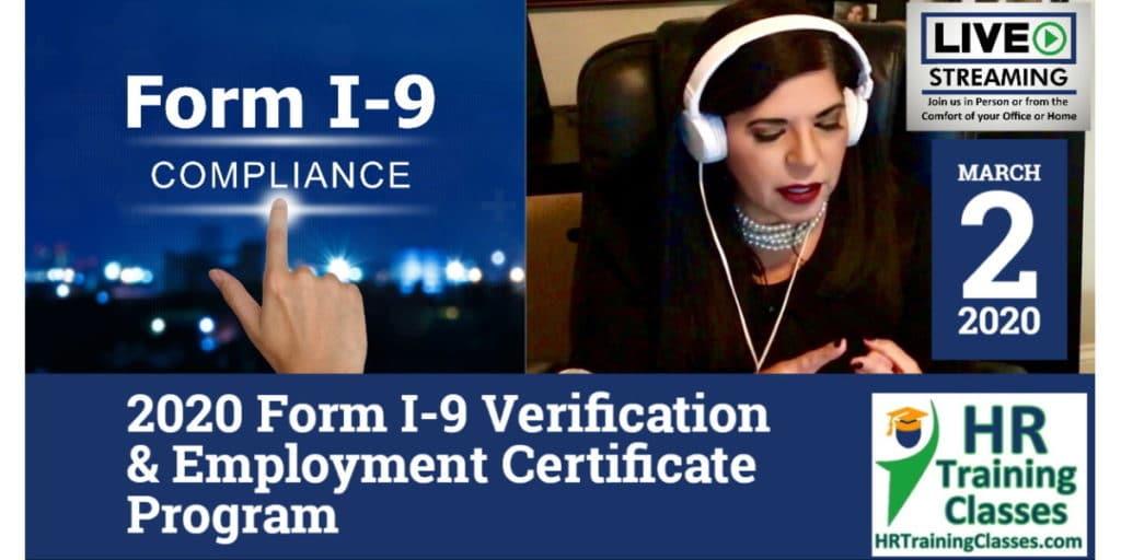 2020 Form I-9 - Employment Eligibility Verification Certificate Program (3-2-2020)
