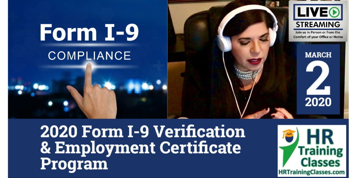 2020 Form I-9 Verification & Employment Certificate Program March 2 2020 with Elga Lejarza-Penn