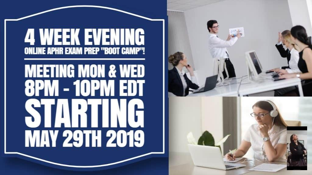 4 Week aPHR Evening Online Exam Prep Boot Camp