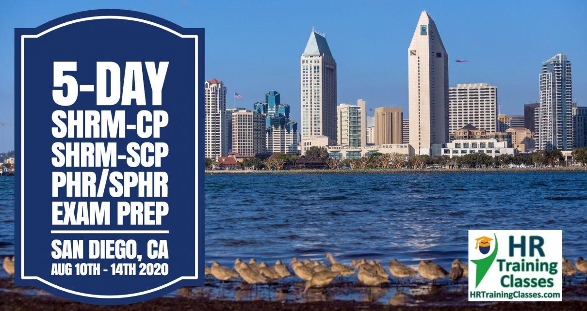 5 Day SHRM-CP, SHRM-SCP, PHR, SPHR Exam Prep Workshop in San Diego, CA starting 8-10-20 and led by Elga lejarza-Penn