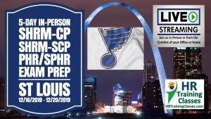5 Day SHRM-CP, SHRM-SCP, PHR, SPHR Exam Prep Workshop in St Louis starting 12-16-19 and led by Elga lejarza-Penn