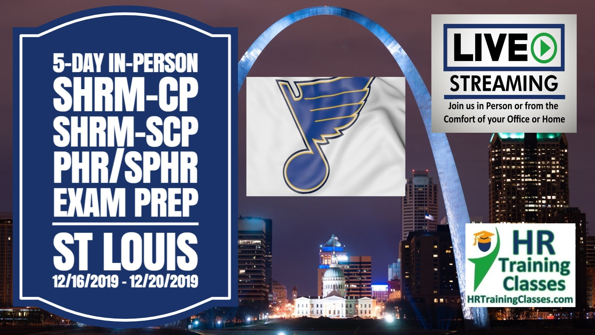 5 Day SHRM-CP, SHRM-SCP, PHR, SPHR Exam Prep Boot Camp in St Louis, MO (Starts 12/16/2019)
