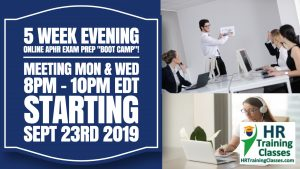 5 Week Evening Online aPHR Exam Prep