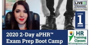 HRTrainingClasses (10-1-2020 St Louis, MO) 2-Day aPHR Exam Prep Boot Camp