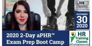HRTrainingClasses (11-30-2020 St Louis, MO) 2-Day aPHR Exam Prep Boot Camp