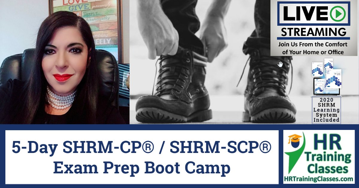 HRTrainingClasses.com Live 5-Day Online SHRM-CP / SHRM-SCP Exam Prep Boot Camp Live Stream