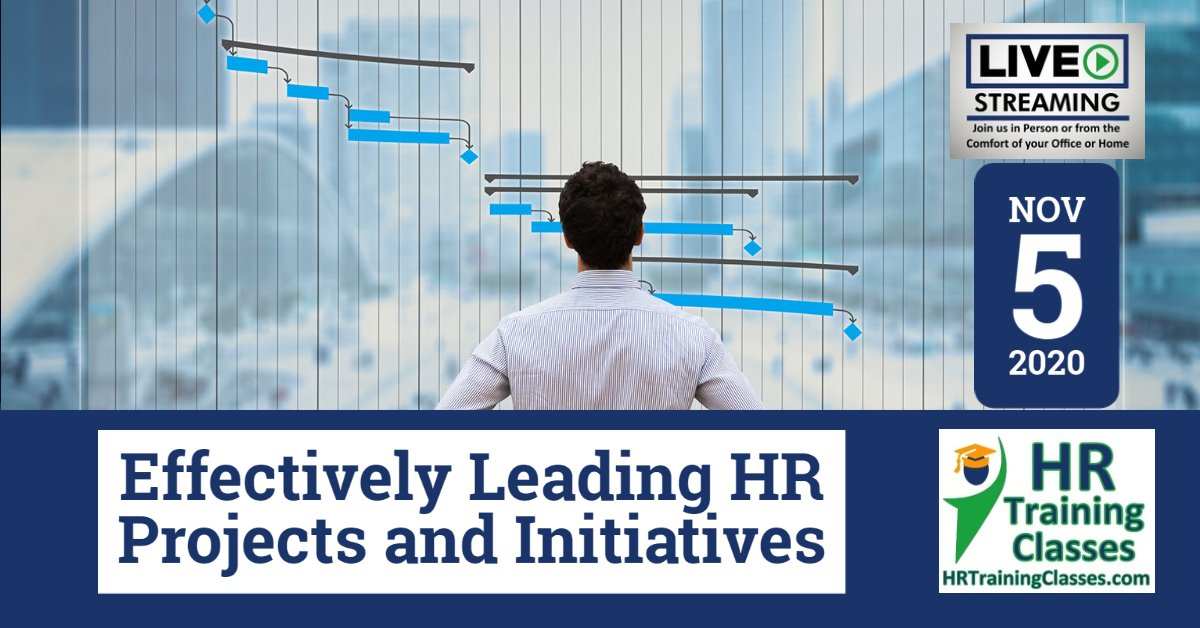 (HRTrainingClasses) Effectively Leading HR Projects and Initiatives 11-5-2020
