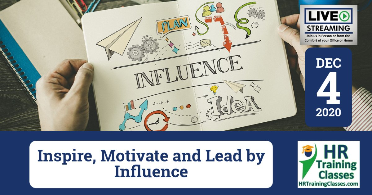 (HRTrainingClasses) Inspire, Motivate and Lead by Influence Cover
