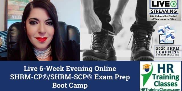 HRTrainingClasses.com 6-Week SHRM-CP_SHRM-SCP Exam Prep Boot Camp