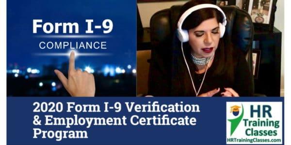 HRTrainingClasses (On-Demand) 4-Hour 2020 Form I-9 Verification & Employment Certificate Program